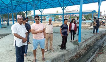 Monitoring of Bhimdutta Buspark with Mayor of Bhimdutta Municipality